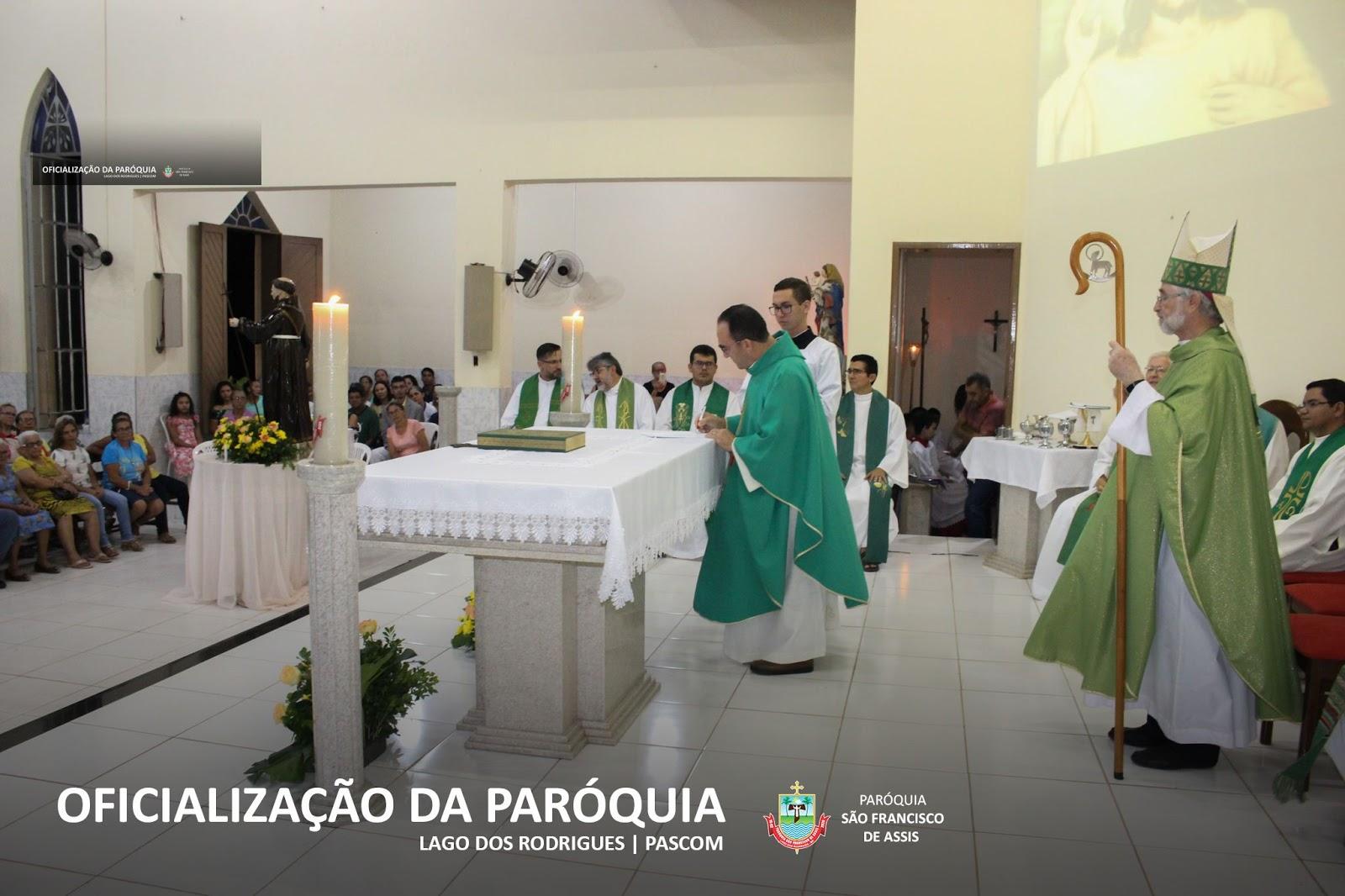 Fé e emoção marcam a Missa Solene de Ereção Canônica da Paróquia São Francisco de Assis de Lago dos Rodrigues
