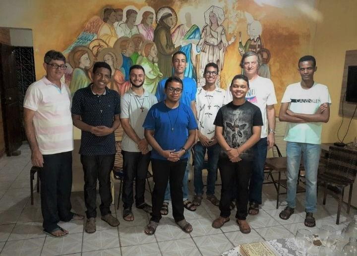 Aspirantado 2020, chegada dos      jovens a Fraternidade São Boaventura